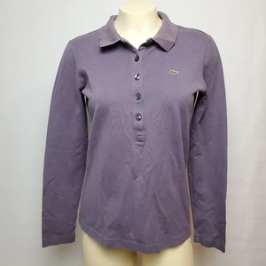 Lacoste Women's Long Sleeve Polo Size 40